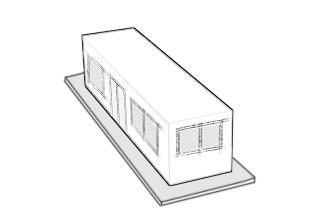 casa fabricada con un contenedores maritimos uno